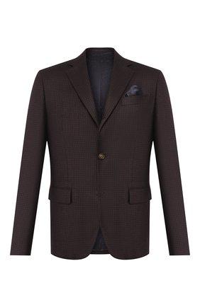 Мужской шерстяной пиджак SAND коричневого цвета, арт. 6135 VICHY STAR NAP0LI | Фото 1