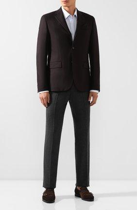 Мужской шерстяной пиджак SAND коричневого цвета, арт. 6135 VICHY STAR NAP0LI | Фото 2