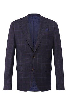 Мужской шерстяной пиджак SAND синего цвета, арт. 1651 STAR NAP0LI | Фото 1