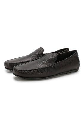 Мужские кожаные мокасины TOD'S черного цвета, арт. XXM0LR00041NLK | Фото 1