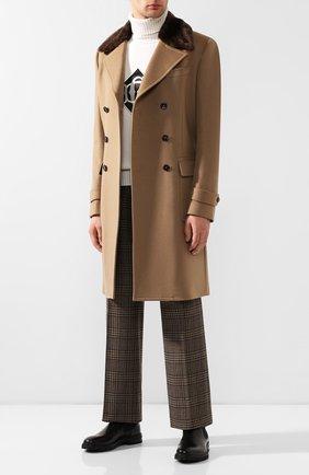Кашемировое пальто с меховой отделкой | Фото №2