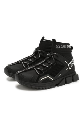 Мужские комбинированные кроссовки sorrento DOLCE & GABBANA черно-белого цвета, арт. CS1719/AA908 | Фото 1