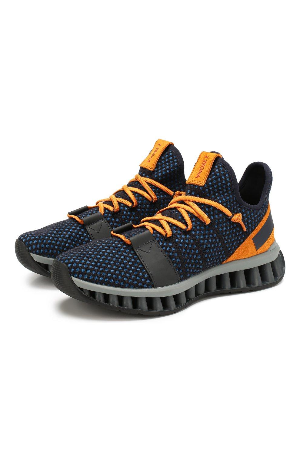 Мужские текстильные кроссовки techmerino a-maze Z ZEGNA синего цвета, арт. A4308X-LHTGS | Фото 1