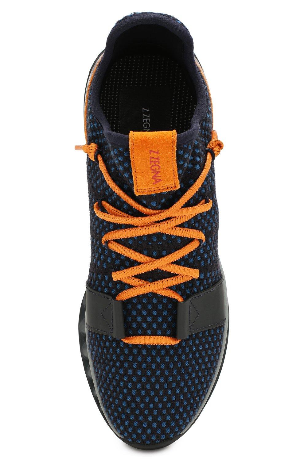 Мужские текстильные кроссовки techmerino a-maze Z ZEGNA синего цвета, арт. A4308X-LHTGS | Фото 5