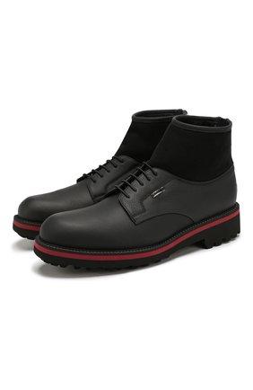 Мужские кожаные ботинки ZILLI черного цвета, арт. MDS-B051/002 | Фото 1