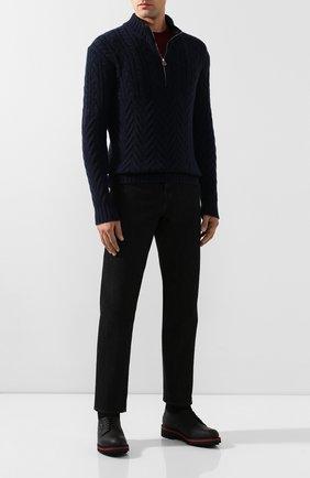 Мужские кожаные ботинки ZILLI черного цвета, арт. MDS-B051/002   Фото 2