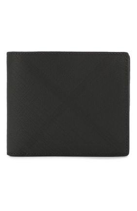 Мужской комплект из портмоне и футляра для кредитных карт BURBERRY темно-серого цвета, арт. 8014527 | Фото 1