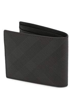 Мужской комплект из портмоне и футляра для кредитных карт BURBERRY темно-серого цвета, арт. 8014527 | Фото 2