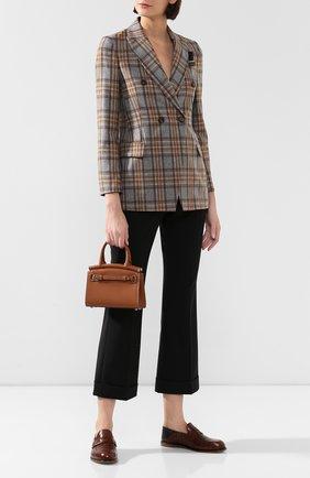 Женская сумка rl50 mini RALPH LAUREN коричневого цвета, арт. 435769078 | Фото 2