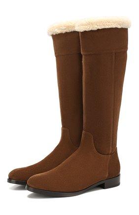 Женские замшевые сапоги rodeo DOLCE & GABBANA коричневого цвета, арт. CU0582/AA394 | Фото 1