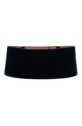 Женский текстильный пояс GIORGIO ARMANI синего цвета, арт. Y1I188/YH67I | Фото 2 (Материал: Текстиль, Вискоза; Кросс-КТ: Широкие; Статус проверки: Проверена категория)