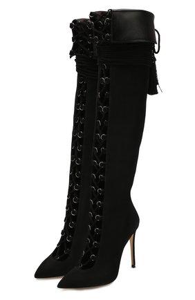 Женские замшевые сапоги piccadilly ALEKSANDERSIRADEKIAN черного цвета, арт. PICADILLY/SUEDE | Фото 1