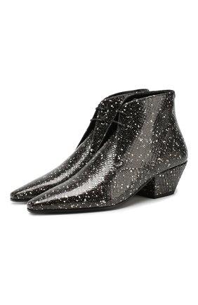 Женские кожаные ботинки belle SAINT LAURENT черного цвета, арт. 592128/L0T00/PRET | Фото 1