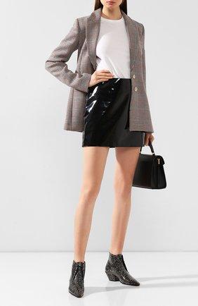 Женские кожаные ботинки belle SAINT LAURENT черного цвета, арт. 592128/L0T00/PRET | Фото 2