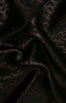 Женский платок из смеси шелка и вискозы BURBERRY черного цвета, арт. 8019026 | Фото 2
