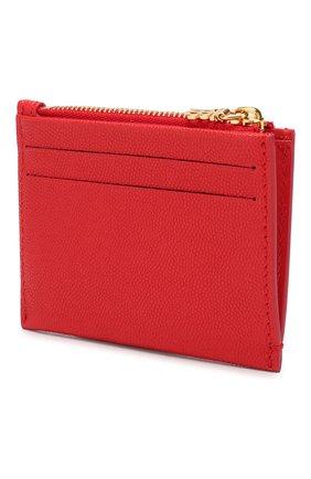 Женский кожаный футляр для кредитных карт BURBERRY красного цвета, арт. 8018955 | Фото 2