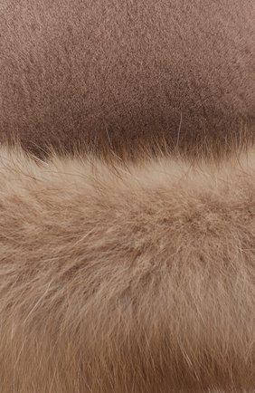 Женская шляпа из меха норки и соболя KUSSENKOVV бежевого цвета, арт. 151913694081 | Фото 3