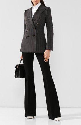 Женский шерстяной жакет DOLCE & GABBANA серого цвета, арт. F29ADT/FRBCK | Фото 2
