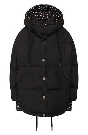 Женский пуховая куртка DOLCE & GABBANA черно-белого цвета, арт. F9F42T/G7TPB | Фото 1