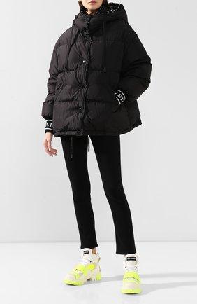 Женский пуховая куртка DOLCE & GABBANA черно-белого цвета, арт. F9F42T/G7TPB | Фото 2