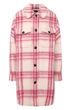 Женское пальто в клетку WOOLRICH розового цвета, арт. WWCPS2846/UT1732 | Фото 1