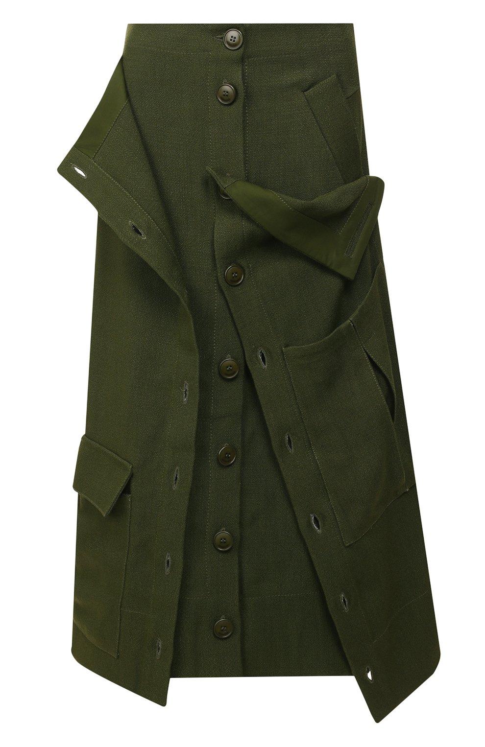 Женская юбка JACQUEMUS зеленого цвета, арт. 193SK03/26580 | Фото 1