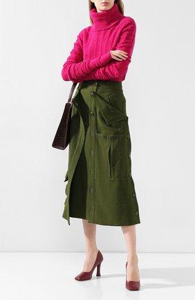 Женская юбка JACQUEMUS зеленого цвета, арт. 193SK03/26580 | Фото 2
