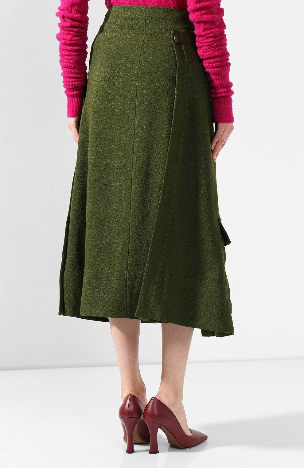 Женская юбка JACQUEMUS зеленого цвета, арт. 193SK03/26580 | Фото 4