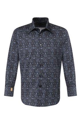 Мужская хлопковая сорочка BILLIONAIRE темно-синего цвета, арт. MRP1072 | Фото 1