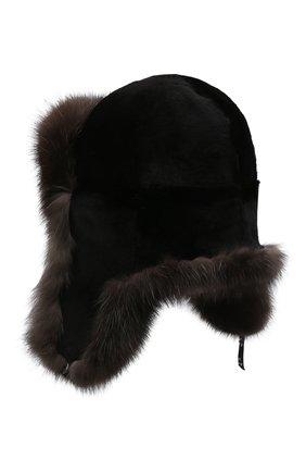 Мужская шапка-ушанка из меха соболя KUSSENKOVV темно-коричневого цвета, арт. 331513504158 | Фото 2
