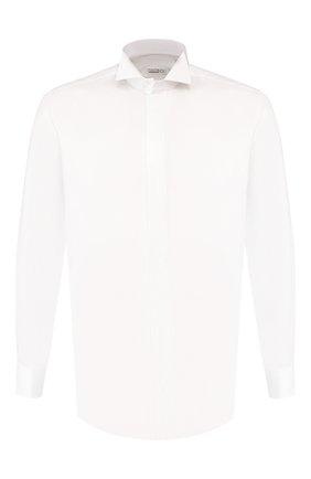 Мужская хлопковая сорочка ZILLI белого цвета, арт. MFS-MERCU-46403/RZ01 | Фото 1