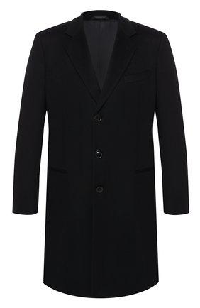Мужской пальто из смеси шерсти и кашемира GIORGIO ARMANI черного цвета, арт. 8WG0L015/T00BU | Фото 1