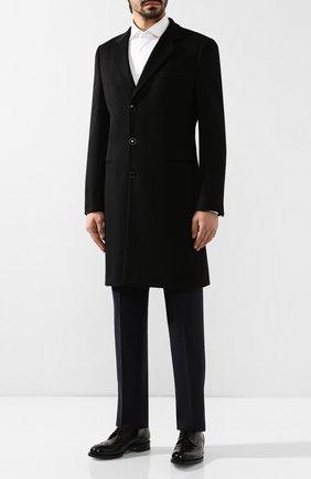 Мужской пальто из смеси шерсти и кашемира GIORGIO ARMANI черного цвета, арт. 8WG0L015/T00BU | Фото 2