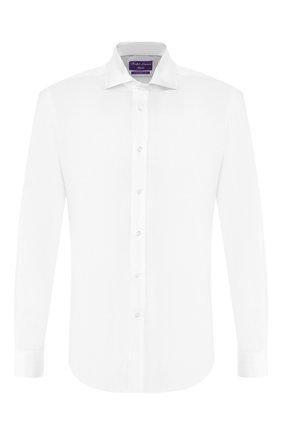 Мужская хлопковая сорочка RALPH LAUREN белого цвета, арт. 791769934 | Фото 1