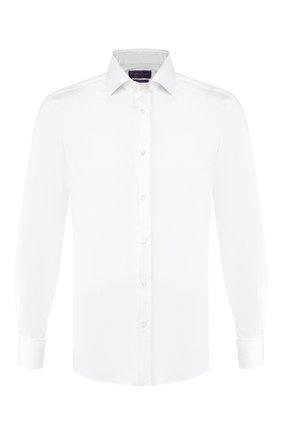 Мужская хлопковая сорочка RALPH LAUREN белого цвета, арт. 791770407 | Фото 1