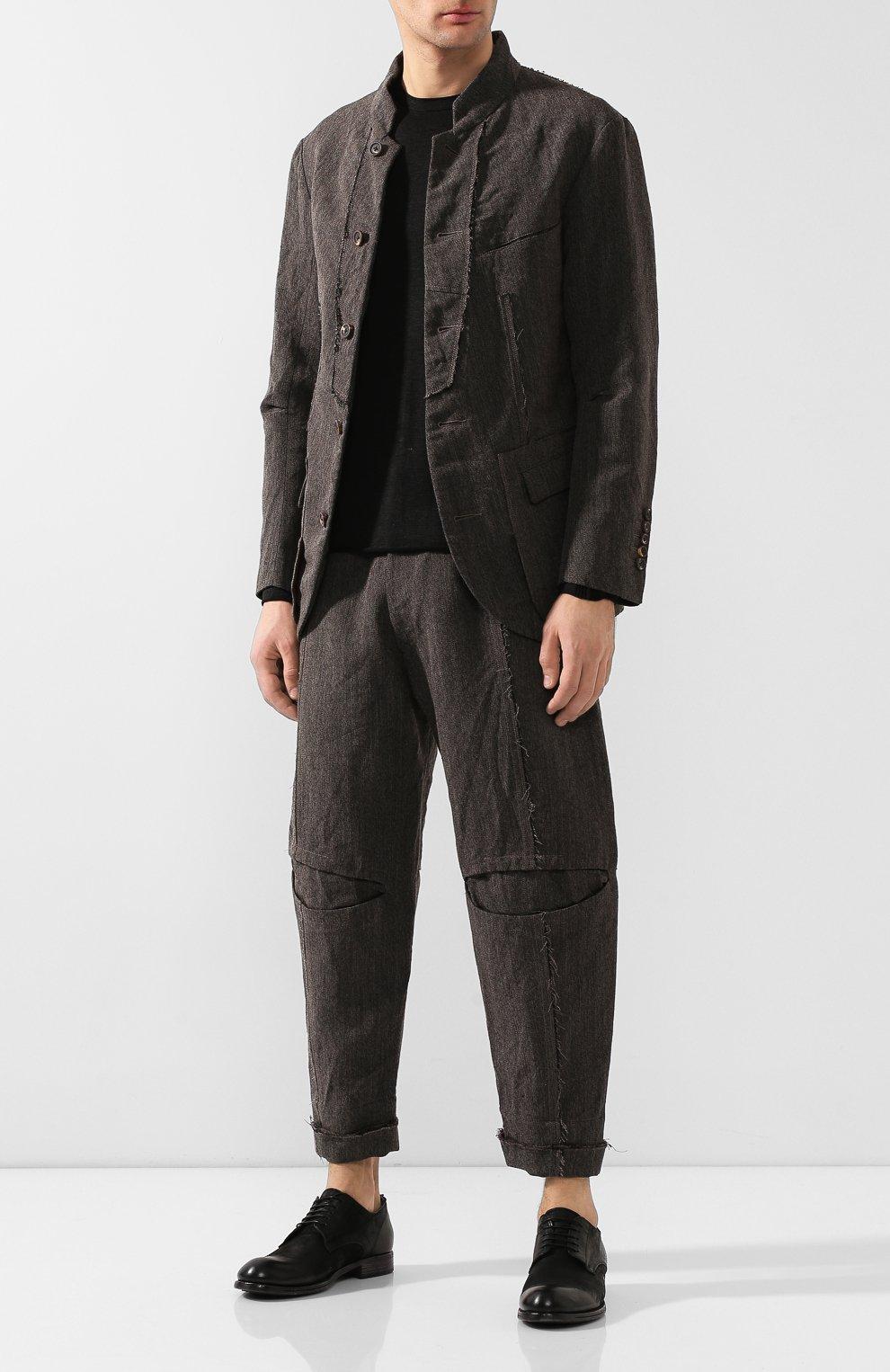 Мужской пиджак из смеси шерсти и льна ZIGGY CHEN серого цвета, арт. 0M1930908 | Фото 2