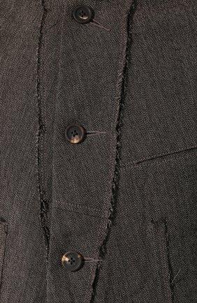 Мужской пиджак из смеси шерсти и льна ZIGGY CHEN серого цвета, арт. 0M1930908 | Фото 5