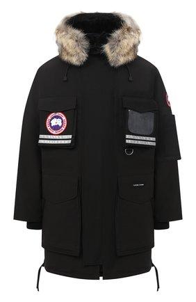 Мужская пуховая парка snow mantra с меховой отделкой CANADA GOOSE черного цвета, арт. 9501M | Фото 1
