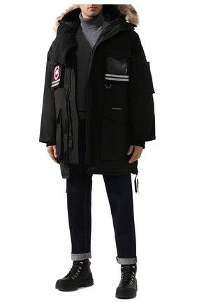 Мужская пуховая парка snow mantra с меховой отделкой CANADA GOOSE черного цвета, арт. 9501M | Фото 2