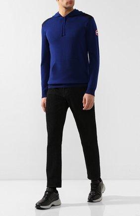 Мужской шерстяное худи CANADA GOOSE синего цвета, арт. 7000M | Фото 2