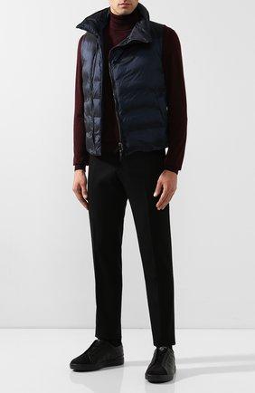 Мужские кожаные кеды ZEGNA COUTURE черного цвета, арт. A4362X-LHABL | Фото 2