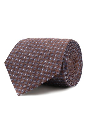 Мужской шелковый галстук PAL ZILERI коричневого цвета, арт. P300211----B2903 | Фото 1