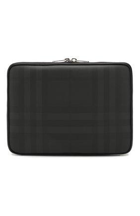 Мужского чехол для ipad BURBERRY темно-серого цвета, арт. 8021189 | Фото 1