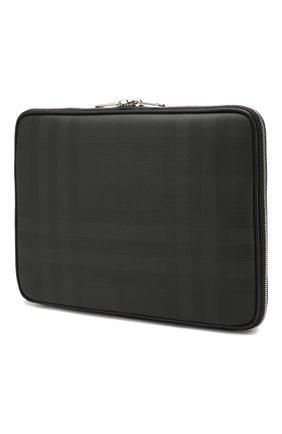Мужского чехол для ipad BURBERRY темно-серого цвета, арт. 8021189 | Фото 2