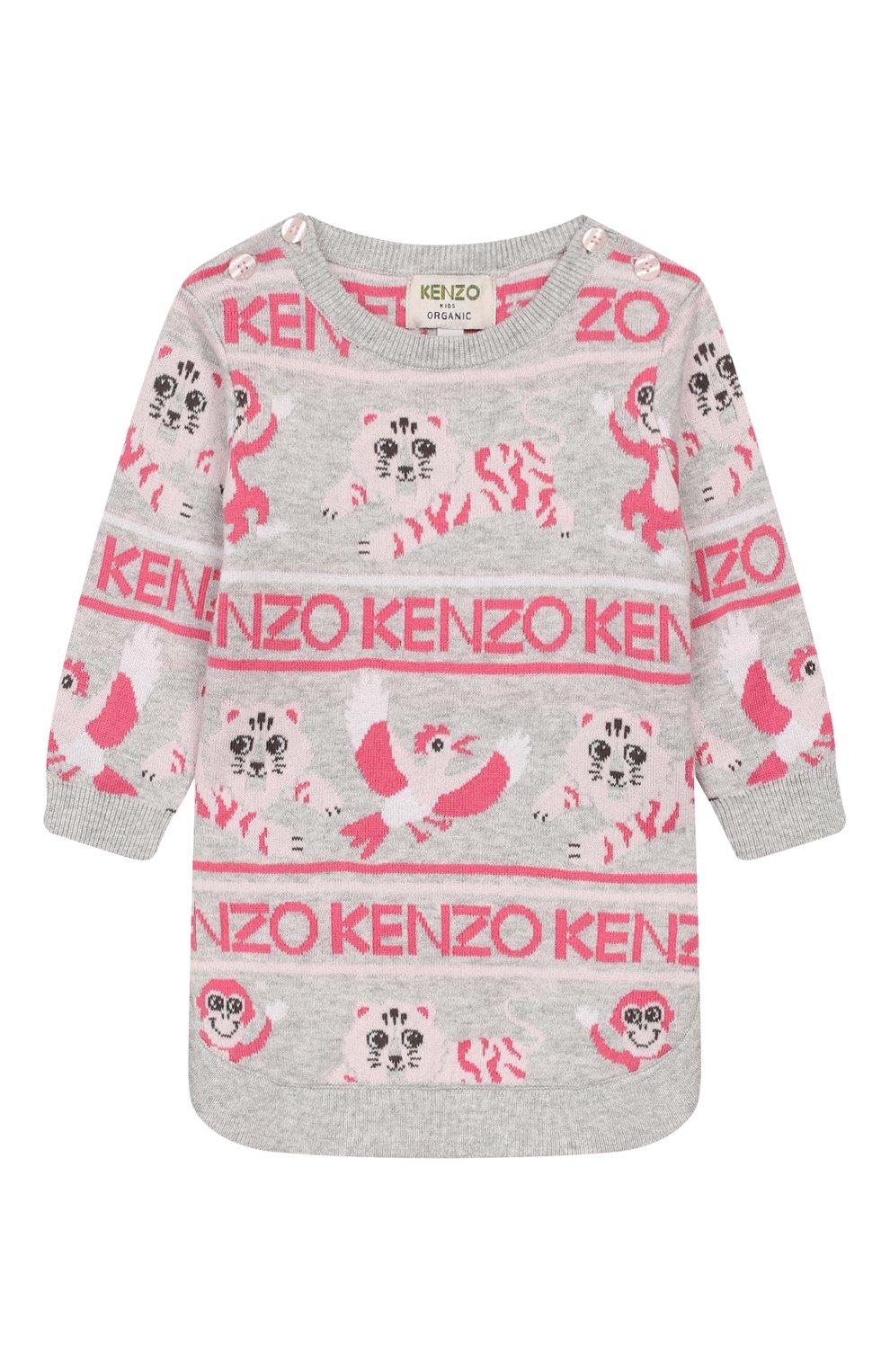 Детского комплект из пуловера и брюк KENZO серого цвета, арт. KP36013   Фото 2