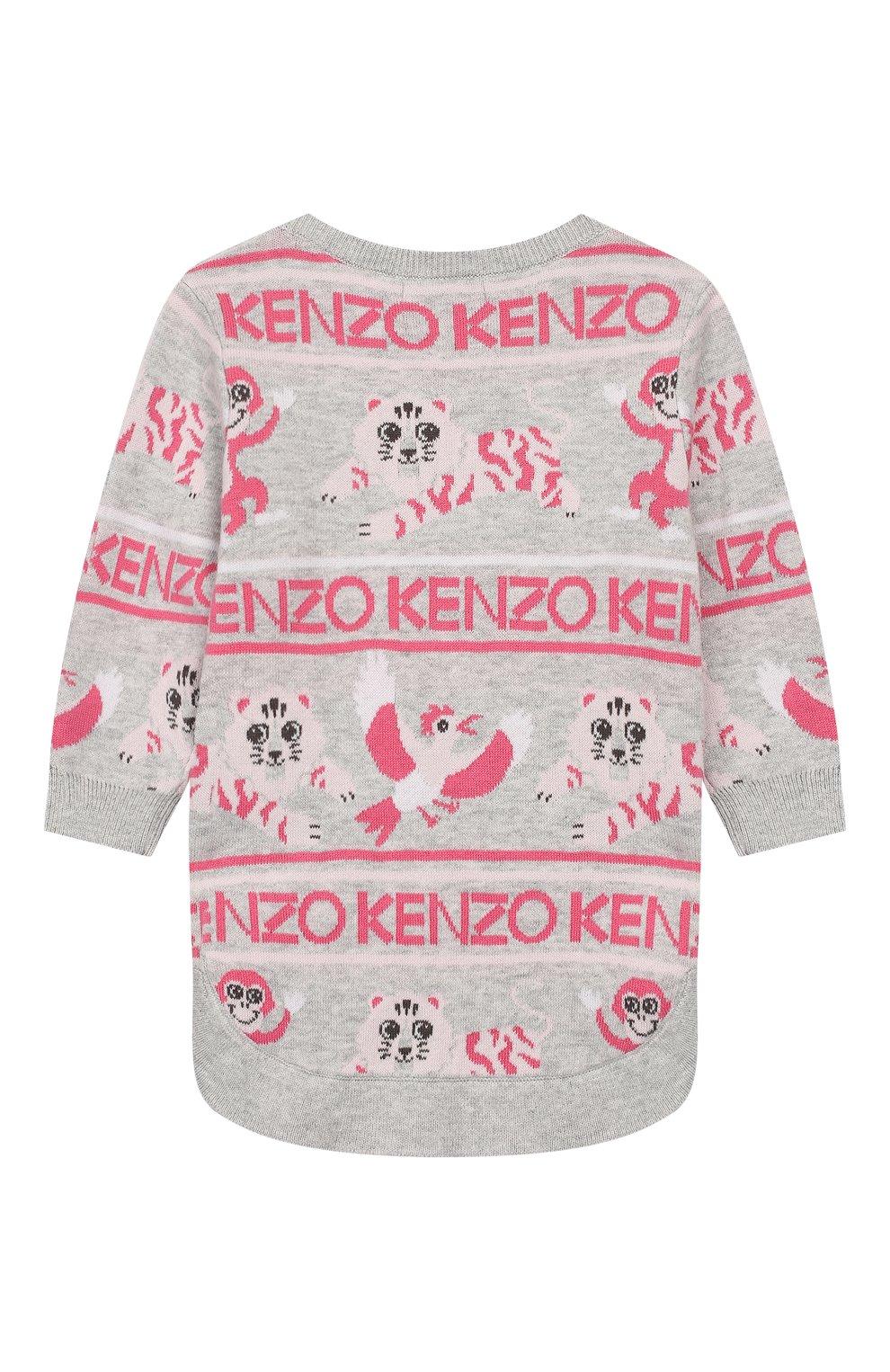 Детского комплект из пуловера и брюк KENZO серого цвета, арт. KP36013   Фото 3