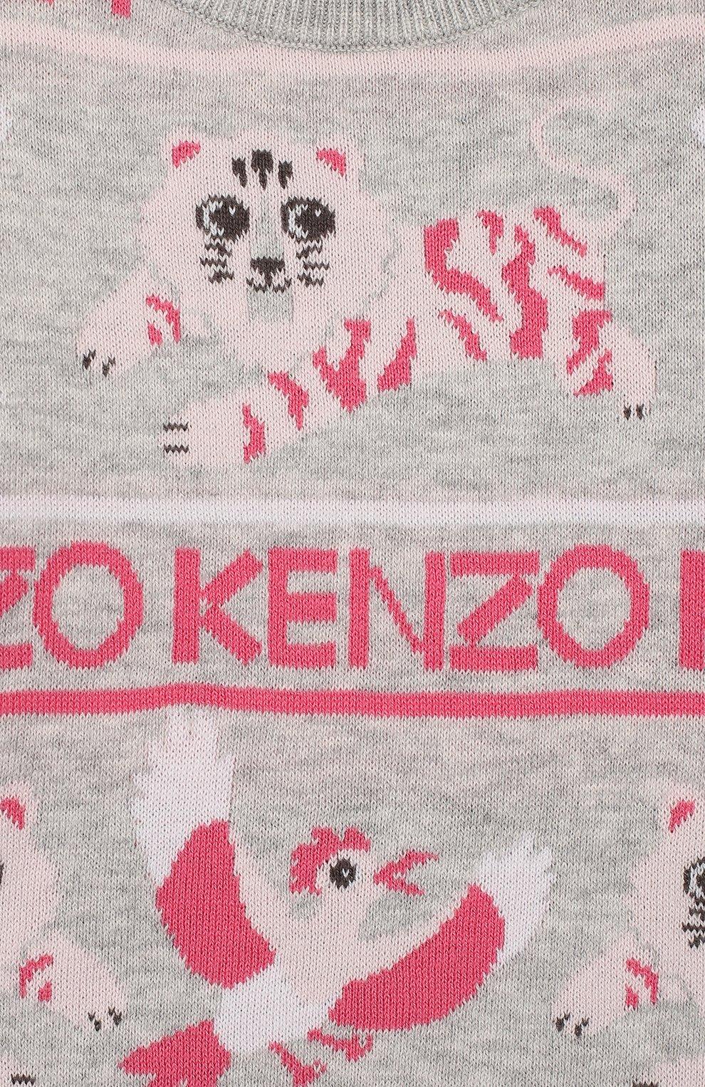 Детского комплект из пуловера и брюк KENZO серого цвета, арт. KP36013   Фото 6