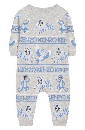 Детский комбинезон KENZO серого цвета, арт. KP32503 | Фото 2