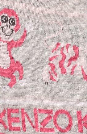 Детские джоггеры KENZO серого цвета, арт. KP24013   Фото 3