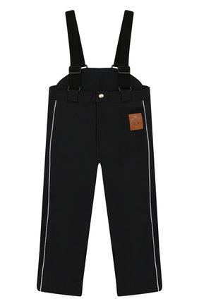 Детский утепленные брюки MINI RODINI черного цвета, арт. 19730101 | Фото 1